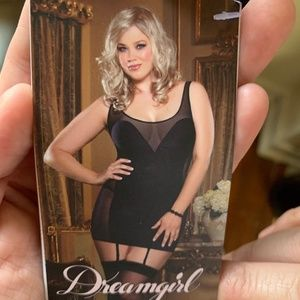 Dreamgirl black plus size lingerie 1X NWT